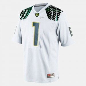 Kids Football #1 Oregon Josh Huff college Jersey - White