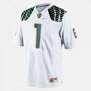 Mens Oregon Ducks Football #1 Josh Huff college Jersey - White