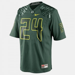 Men's Football #24 University of Oregon Kenjon Barner college Jersey - Green