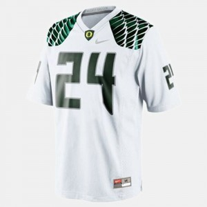 Youth(Kids) #24 Football UO Kenjon Barner college Jersey - White