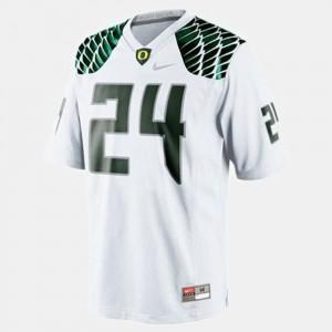 Mens Football Oregon #24 Kenjon Barner college Jersey - White