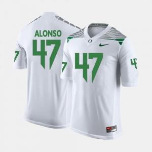 Men #47 Oregon Football Kiko Alonso college Jersey - White