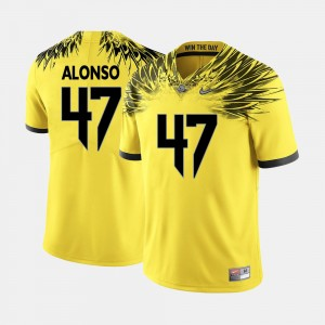 Men Football UO #47 Kiko Alonso college Jersey - Yellow