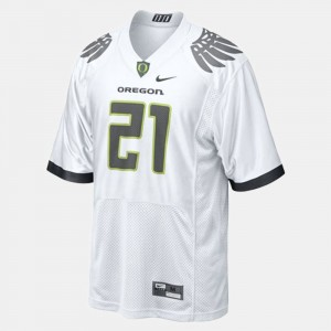Men Oregon Duck #21 Football LaMichael James college Jersey - White