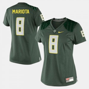 Women's Football Oregon Ducks #8 Marcus Mariota college Jersey - Green