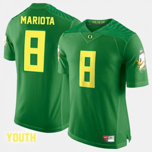 Kids #8 Marcus Mariota college Jersey - Green Football UO