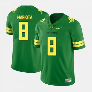 Men #8 University of Oregon Football Marcus Mariota college Jersey - Green