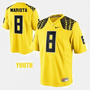 Youth Football Oregon Ducks #8 Marcus Mariota college Jersey - Yellow