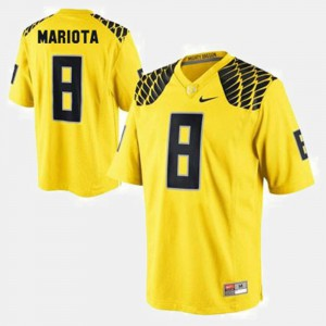 Mens #8 Ducks Football Marcus Mariota college Jersey - Yellow
