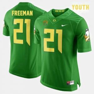 Kids #21 Football Oregon Ducks Royce Freeman college Jersey - Green