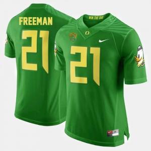 Men's Football #21 Ducks Royce Freeman college Jersey - Green