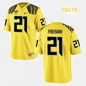 Kids Ducks #21 Football Royce Freeman college Jersey - Yellow