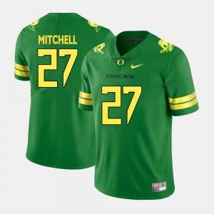 Men Oregon Duck #27 Football Terrance Mitchell college Jersey - Green