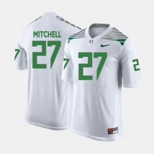 Men's Football #27 Ducks Terrance Mitchell college Jersey - White