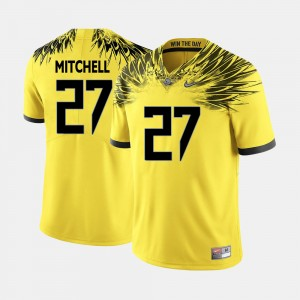 Men's Oregon Ducks Football #27 Terrance Mitchell college Jersey - Yellow