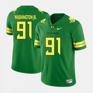 Men #91 Football Ducks Tony Washington Jr. college Jersey - Green