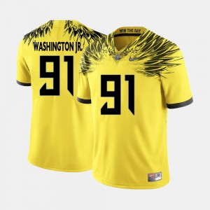 Men's UO #91 Football Tony Washington Jr. college Jersey - Yellow