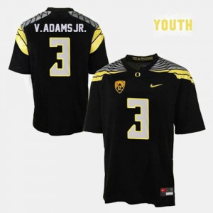 Kids Ducks #3 Football Vernon Adams college Jersey - Black
