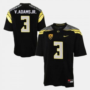 Men #3 Vernon Adams college Jersey - Black Football Oregon Ducks