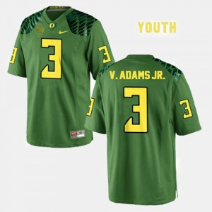 Youth(Kids) Ducks #3 Football Vernon Adams college Jersey - Green