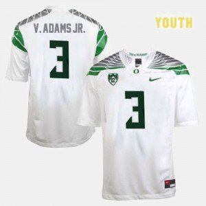 Youth(Kids) Football UO #3 Vernon Adams college Jersey - White