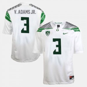 Men's #3 University of Oregon Football Vernon Adams college Jersey - White