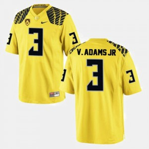 Men #3 Vernon Adams college Jersey - Yellow Football UO