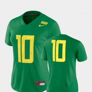 Women Oregon Duck #10 Football Game 2018 Mighty Oregon college Jersey - Green