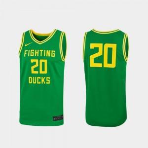 Women's Basketball UO Replica #20 college Jersey - Green