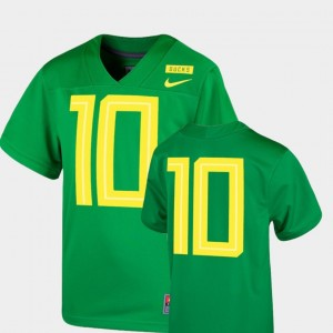 Kids #10 Oregon Duck Football Game 2018 Mighty Oregon college Jersey - Apple Green