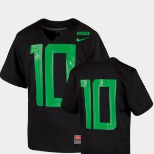 Kids #10 Football Game 2018 Mighty Oregon Ducks college Jersey - Black