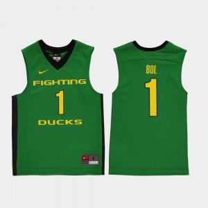 Kids Ducks #1 Basketball Replica Bol Bol college Jersey - Green