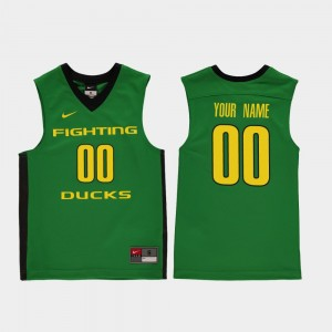Youth(Kids) Basketball #00 Replica UO college Customized Jerseys - Green