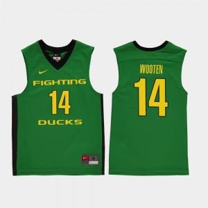 Kids #14 Kenny Wooten college Jersey - Green Replica Basketball University of Oregon