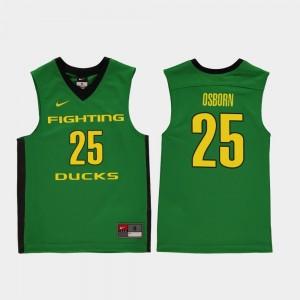 Youth(Kids) Basketball Replica #25 Oregon Ducks Luke Osborn college Jersey - Green
