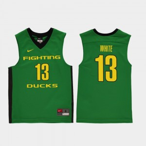 Youth Oregon Duck #13 Replica Basketball Paul White college Jersey - Green