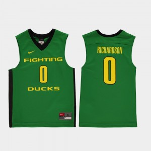 Youth Oregon Duck #0 Replica Basketball Will Richardson college Jersey - Green